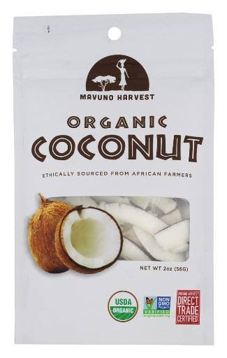 Mavuno Harvest Coconut, Organic, Dried - 2 oz