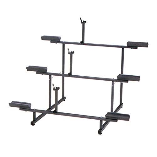Minoura 971-3 Bicycle Display Stand - Gray, 3 Tier