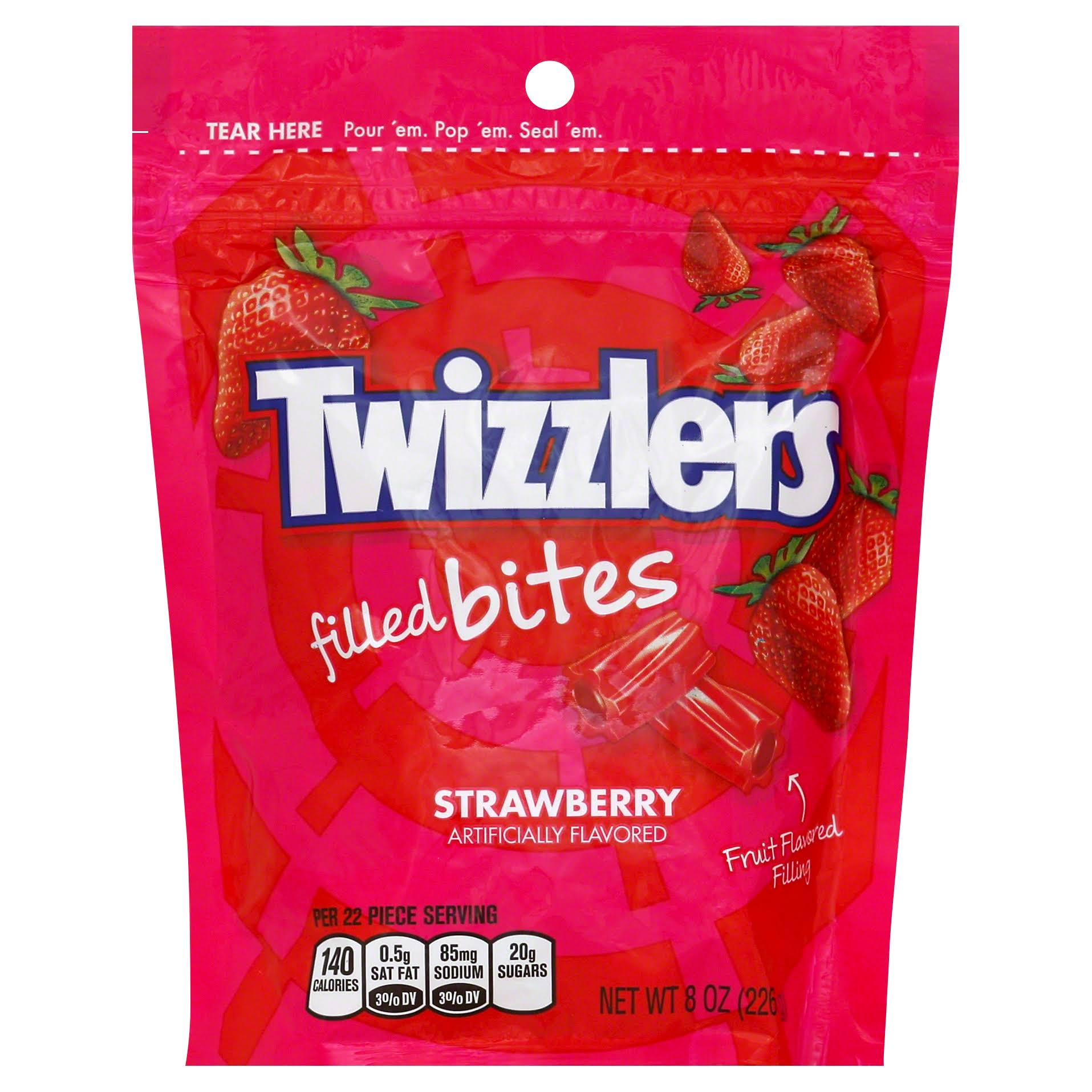 Twizzlers Filled Bites Licorice Candy - Strawberry