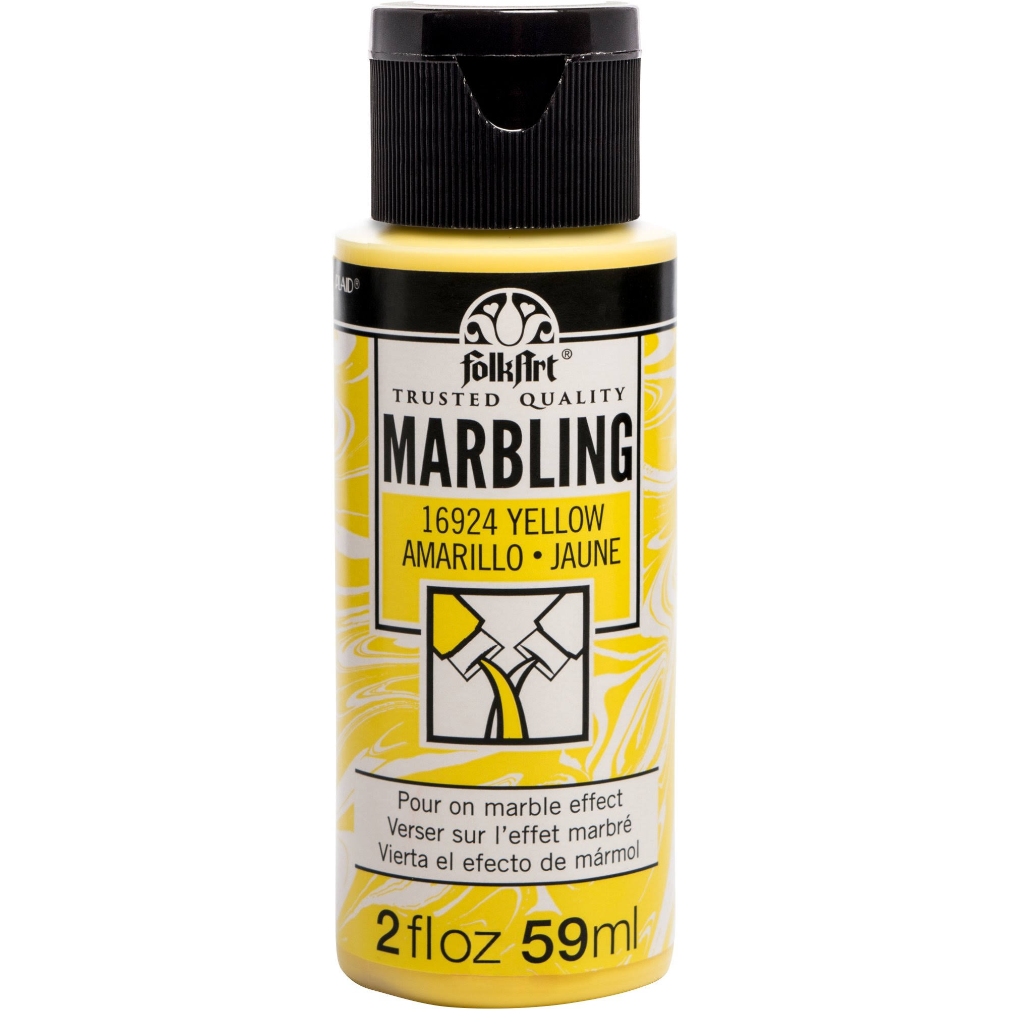 FolkArt Marbling Paint - Yellow, 2 oz.
