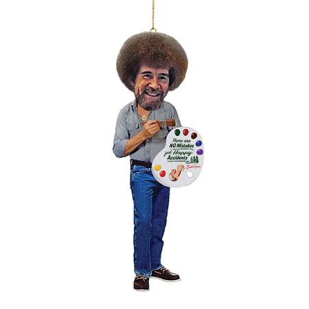 Kurt Adler Bob Ross Figural Ornament BO2181