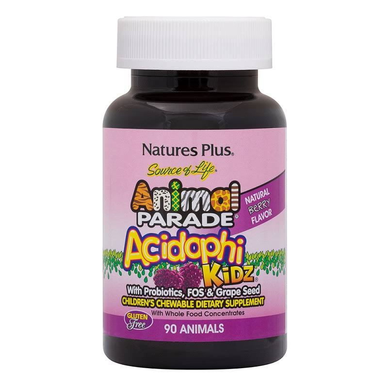 Nature's Plus Animal Parade Acidophi Kidz Chewable Tablets - Berry