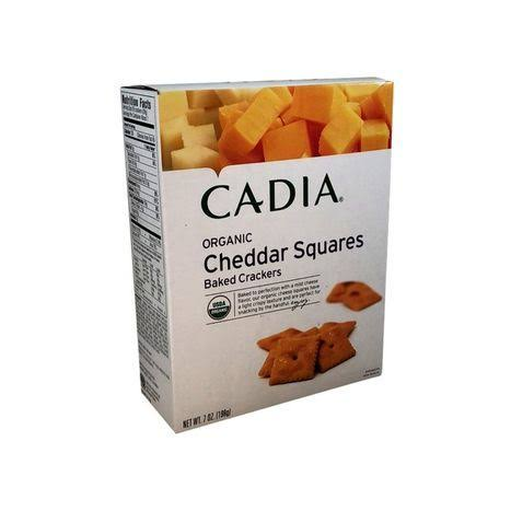 Cadia: Organic Cheddar Cheese Square Crackers, 7oz