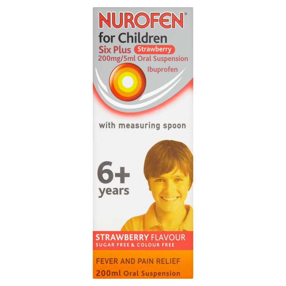 Nurofen For ChildrenOral Suspension - 200mg, 200ml, Strawberry