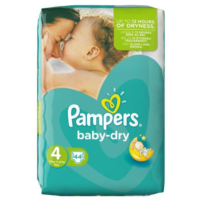 Pampers Baby Dry Diapers - Size 4, 44pcs