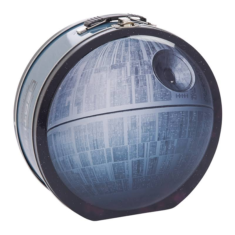Star Wars Death Star Shaped Tin Tote Classic Alarm Clock
