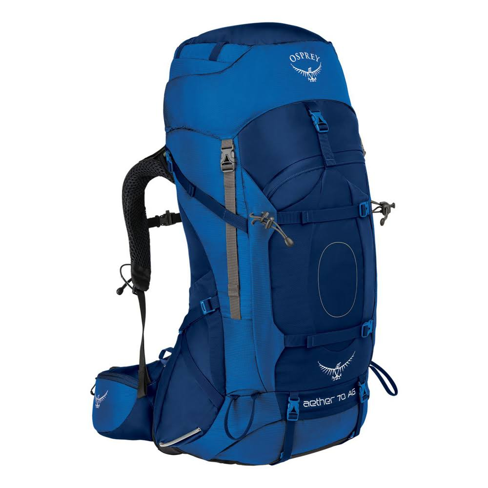Osprey Aether AG 70 Sky Mountaineering Backpack - Starfish Blue, 70l