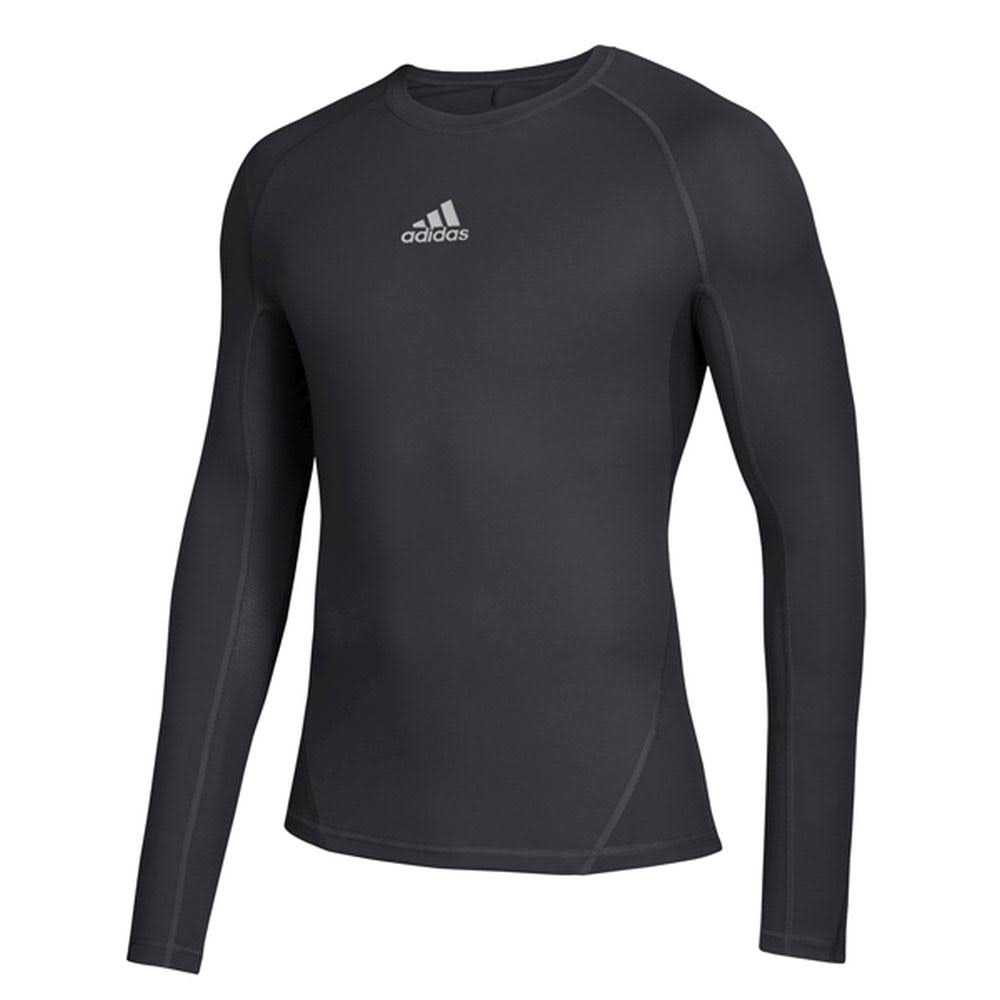 Adidas Men Alphaskin Long Sleeve Compression T-Shirt Black XL