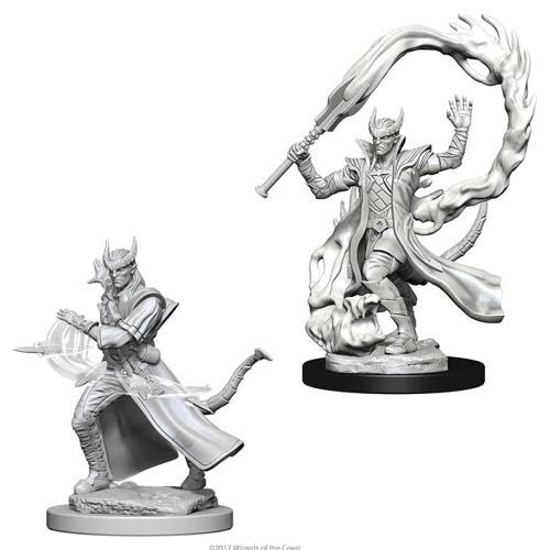 Dungeons and Dragons Nolzur's Marvelous Miniature: Tiefling Male Sorcerer - Unpainted