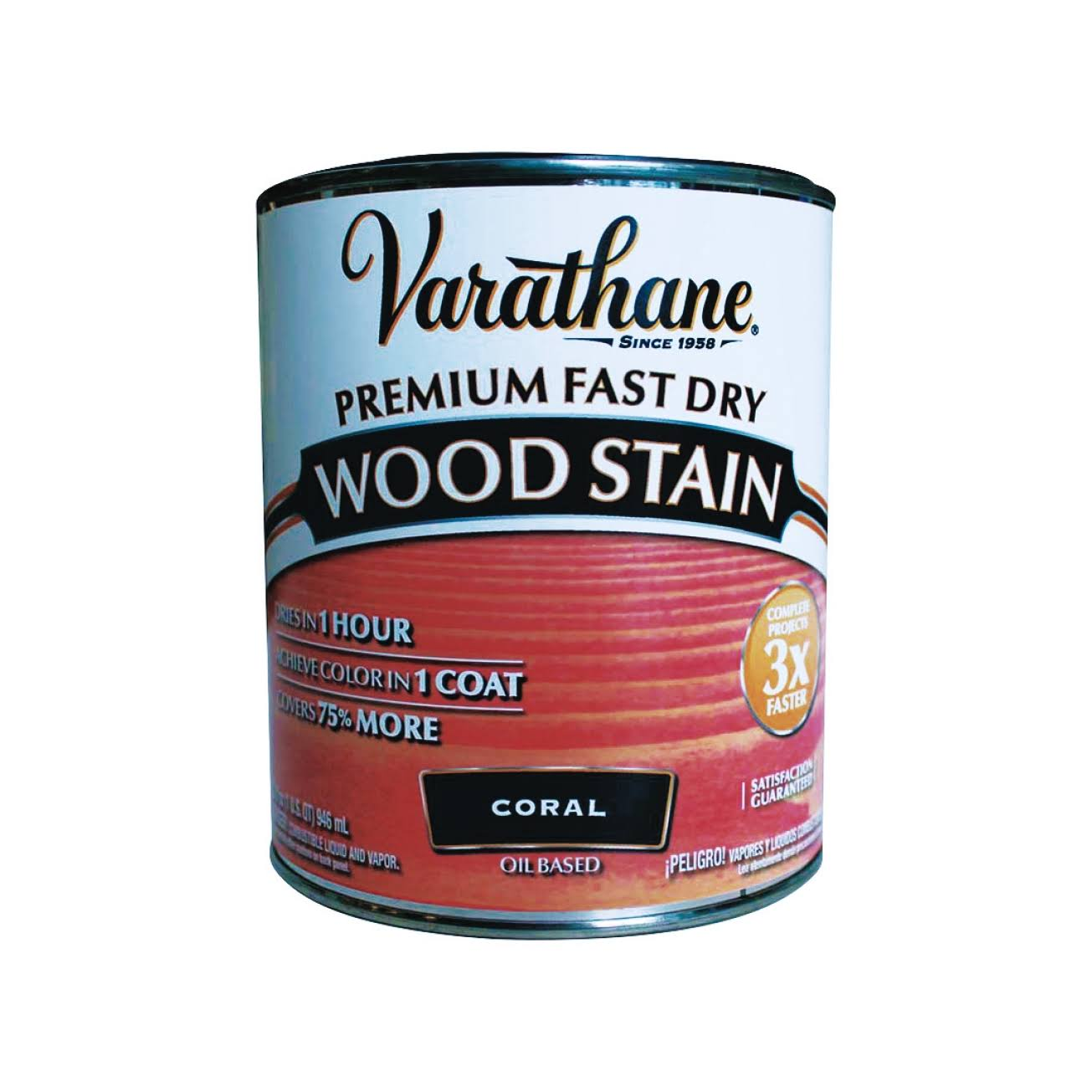 Varathane 307413 Premium Fast Dry Wood Stain, 32 oz, Coral