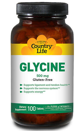 Country Life Glycine 500mg Tablets - x100