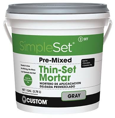 Building Products Thin Set Mortar - Gray, 1gal