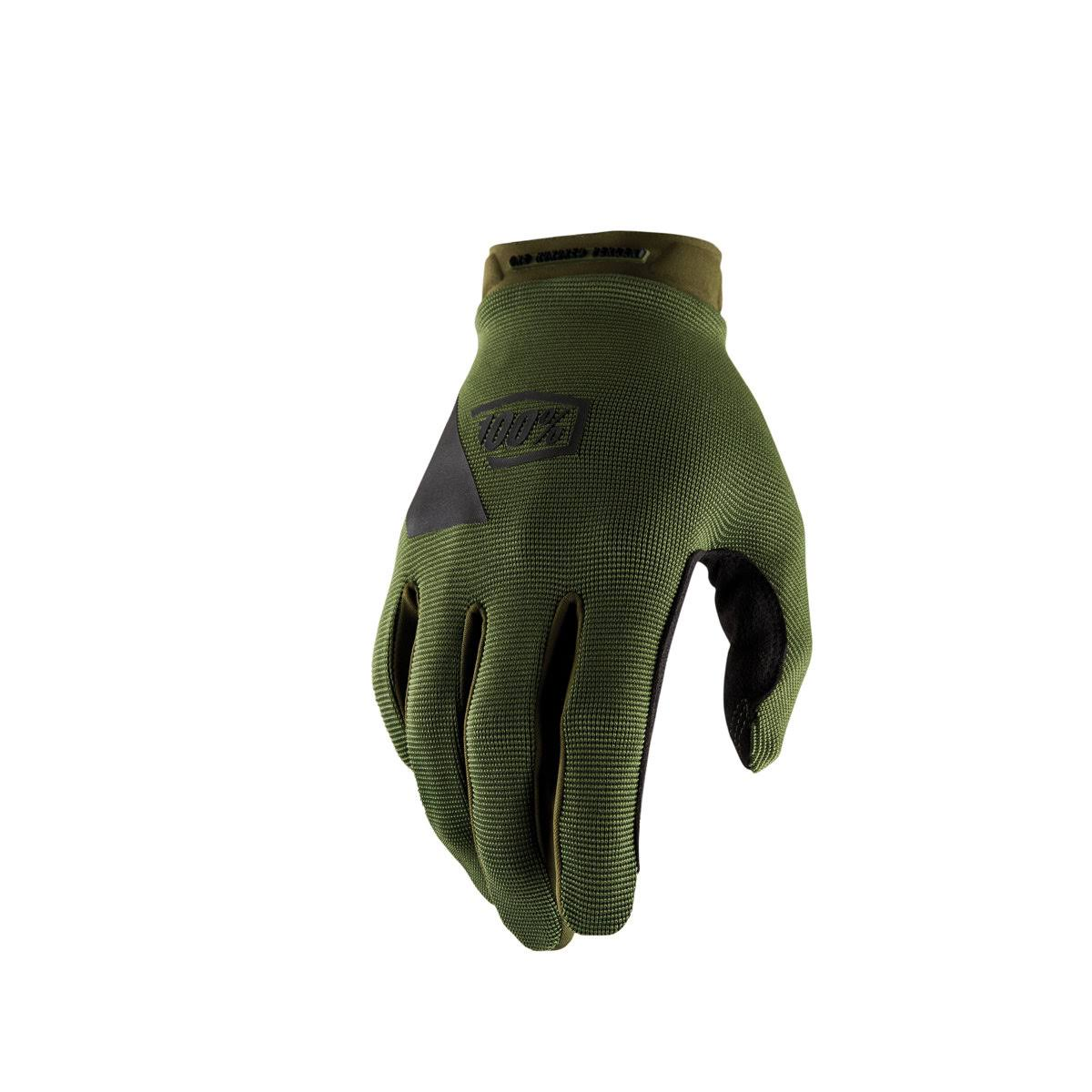 100 Percent Ridecamp Gloves - X Large, Fatigue
