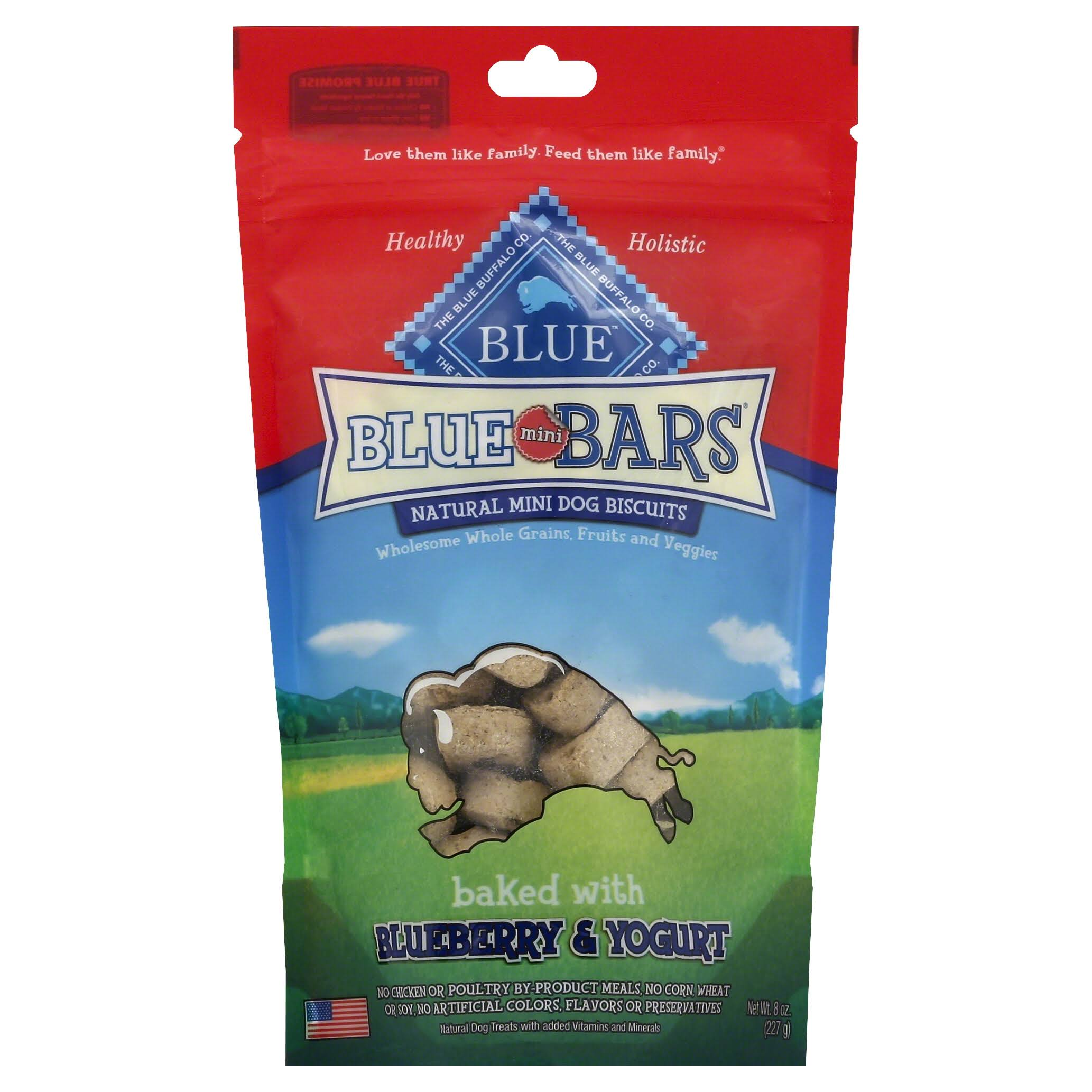 Blue Buffalo Mini Blue Bars Dog Biscuits - Blueberry & Yogurt, 8 Oz