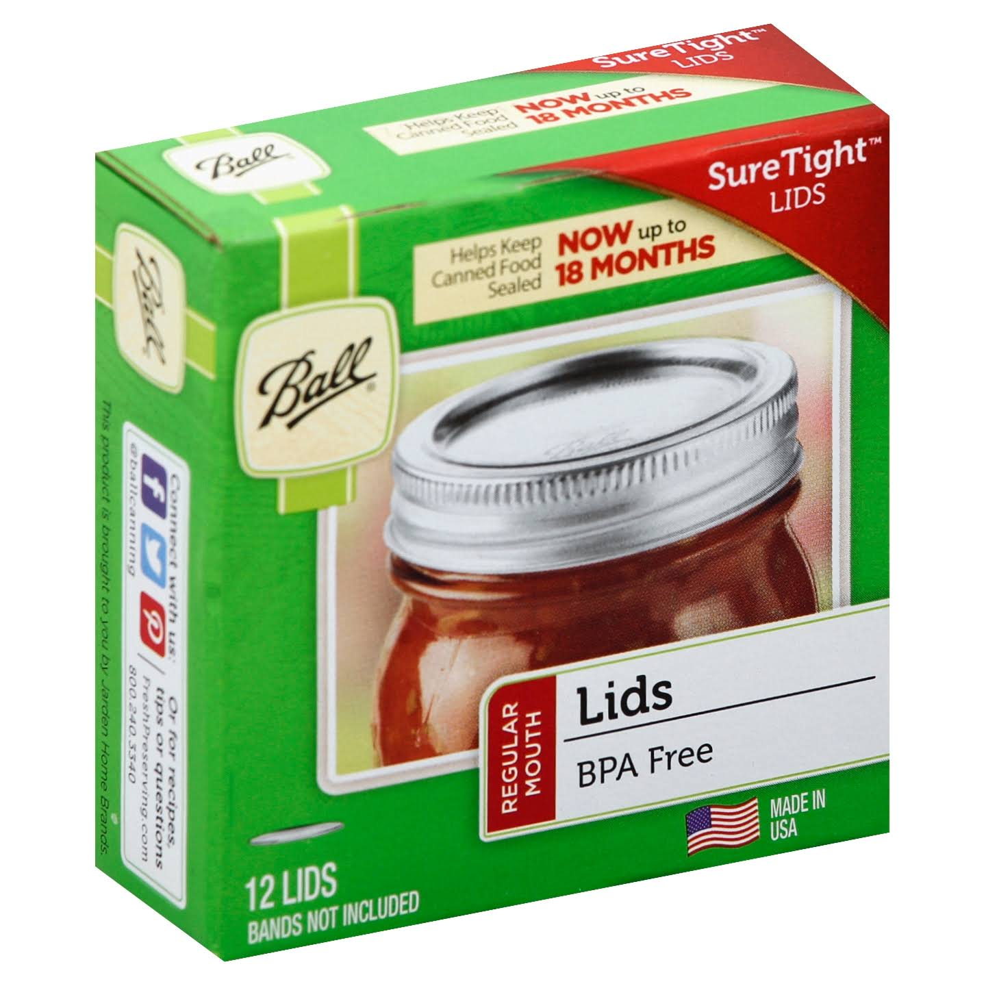 Ball Lids - Regular Mouth, 12 Lids