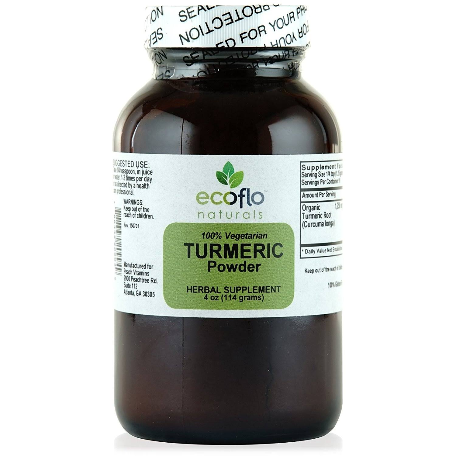 Vitality Works Organic Turmeric Root - 4 oz - Powder