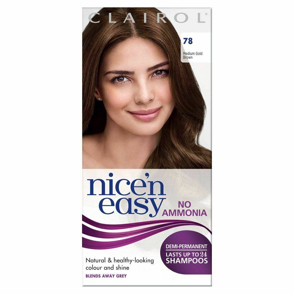 Nice N Easy Non Permanent Hair Dye - Medium Gold Brown 78