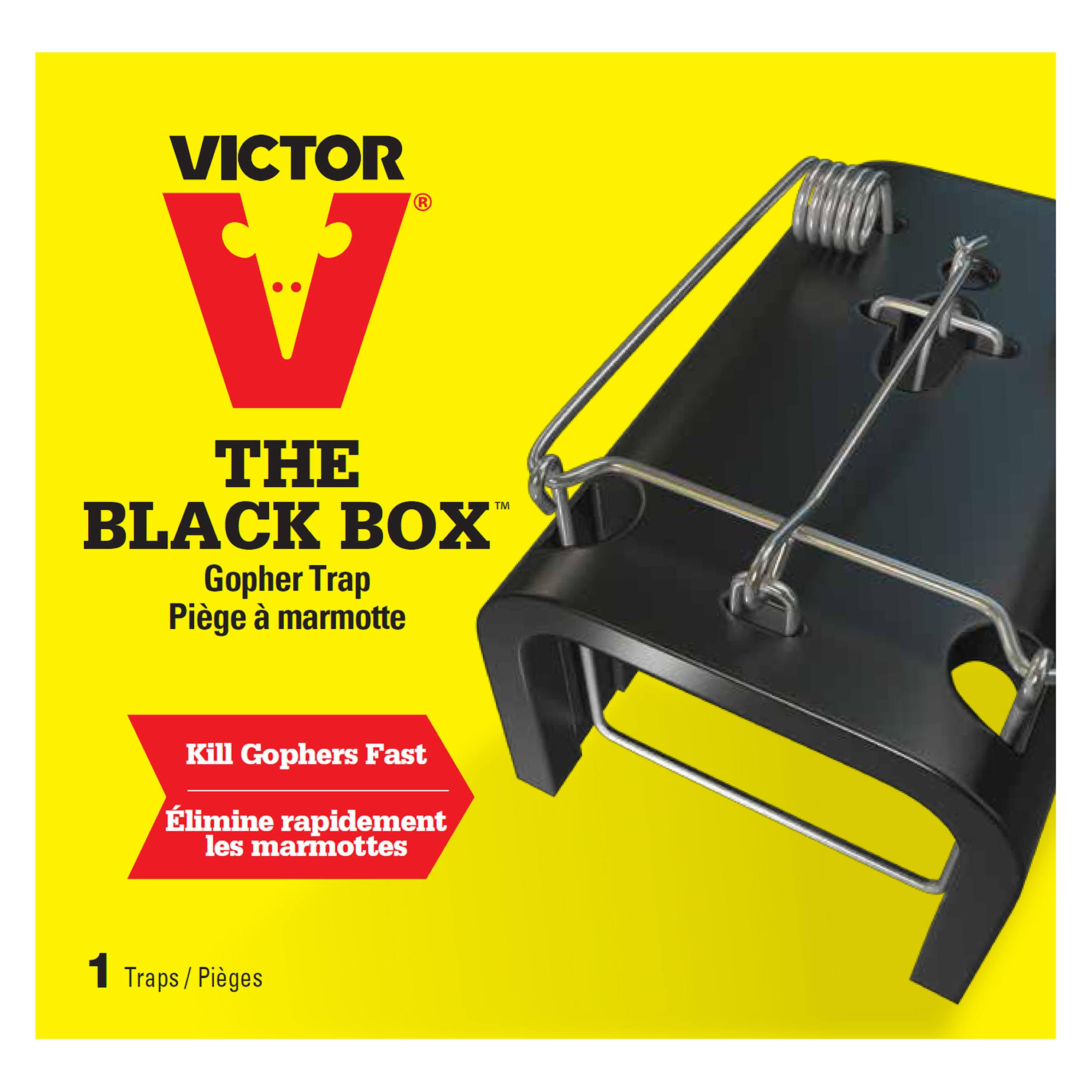 Victor Box Gopher Trap - Black