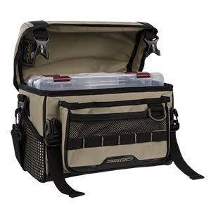 Plano PLAB36121 2-3600 Stowaways Weekend Series Softsider Tackle Bag Tan