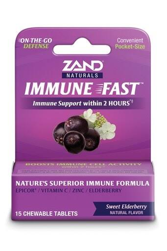 Zand Immune Fast Elderberry - 15 Chewable