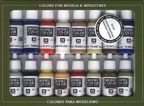 Vallejo Model Color American Colonial Set New