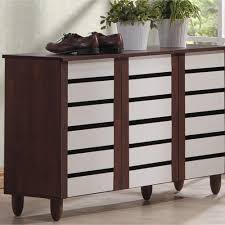 Baxton Shoe Storage Cabinet by Baxton Studio Lindo Contemporary Dark Brown Storage Cabinet 28862