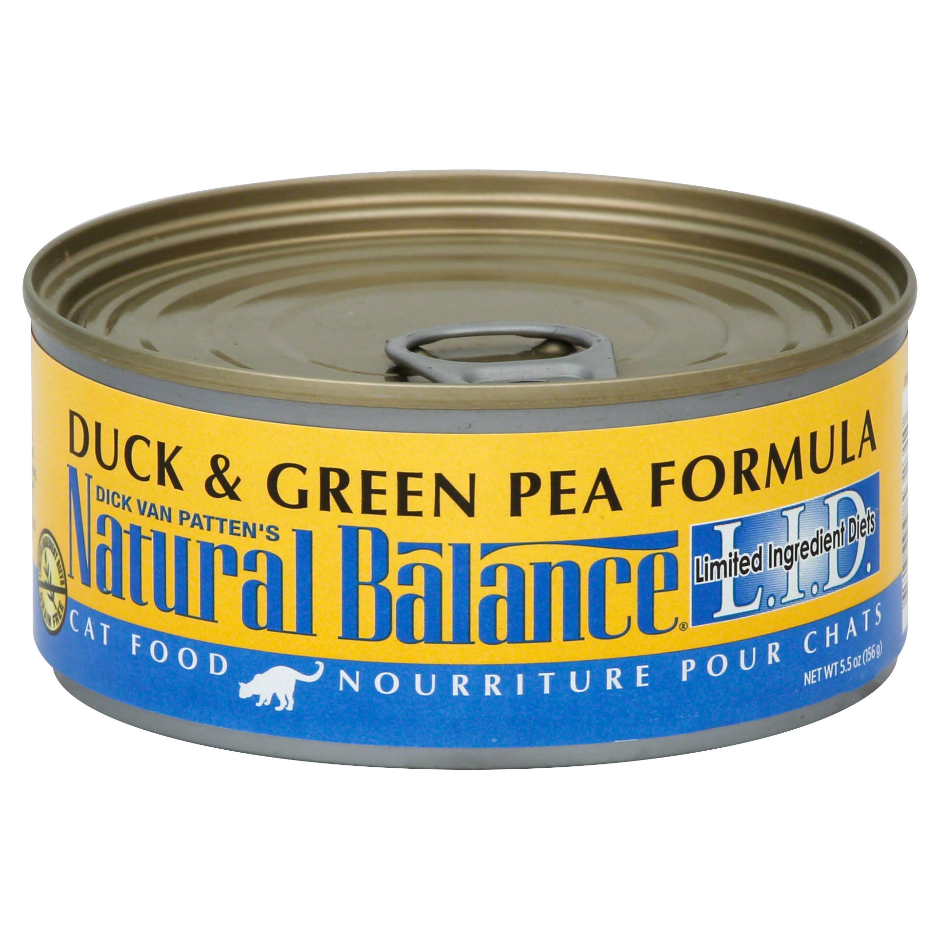 Natural Balance LID Grain Free Canned Cat Food - Duck & Green Pea