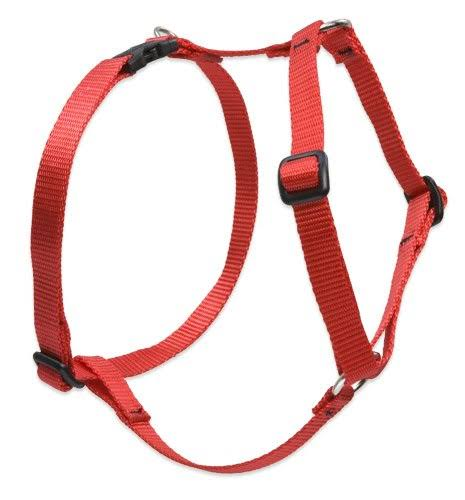 "Lupine Roman Dog Harness - Red, 1/2""W; 9-14"" Girth"