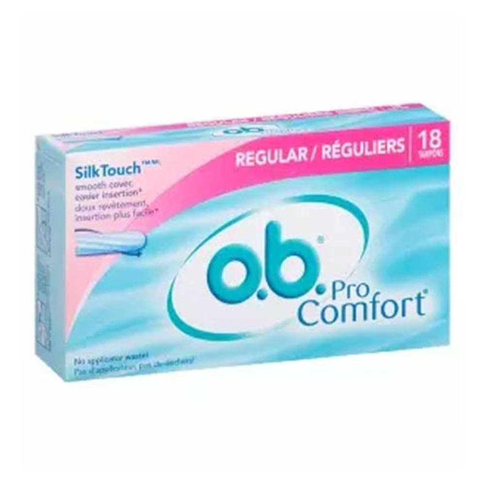 O B Pro Comfort Tampons - Regular, 18pc