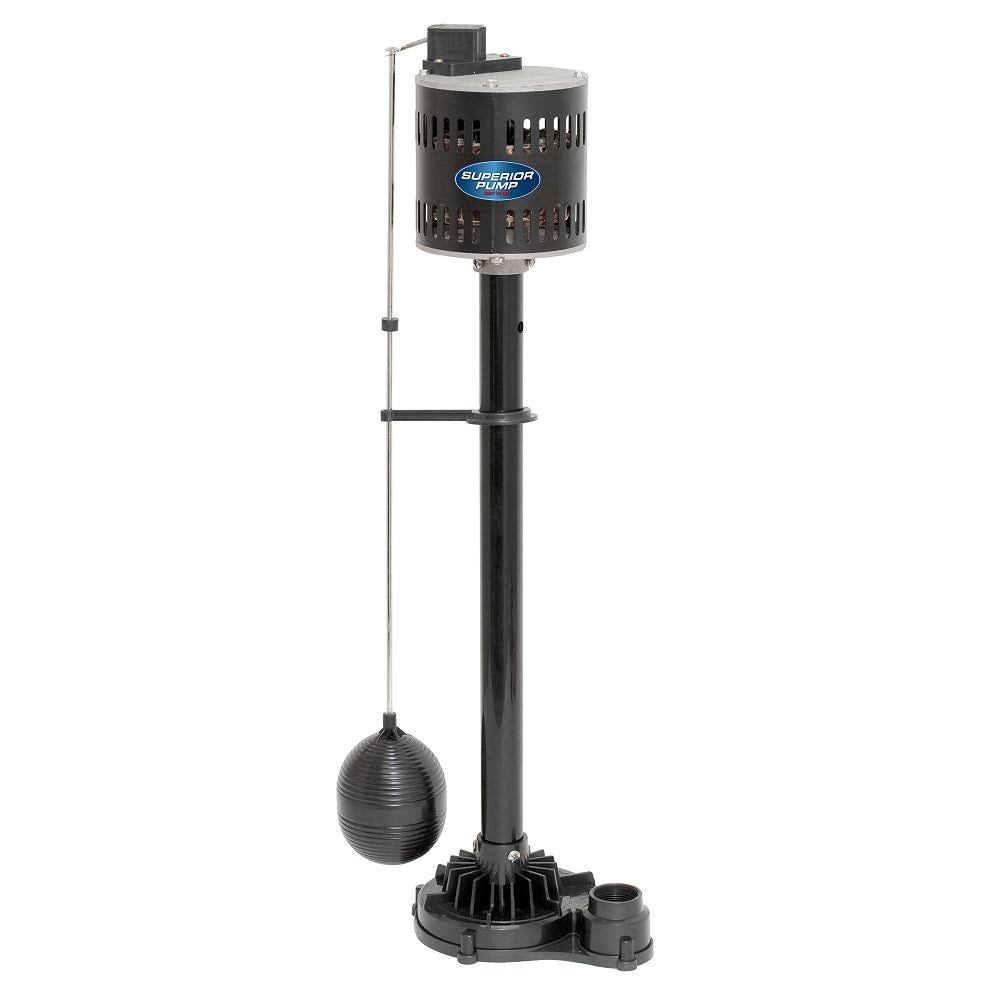 Superior Pump 92333 Pedestal Sump Pump - Thermoplastic, 1/3HP