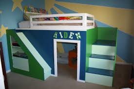 Build Loft Bed With Desk by Kids Beds For Small Spaces A Bedroom For Three Three Kids