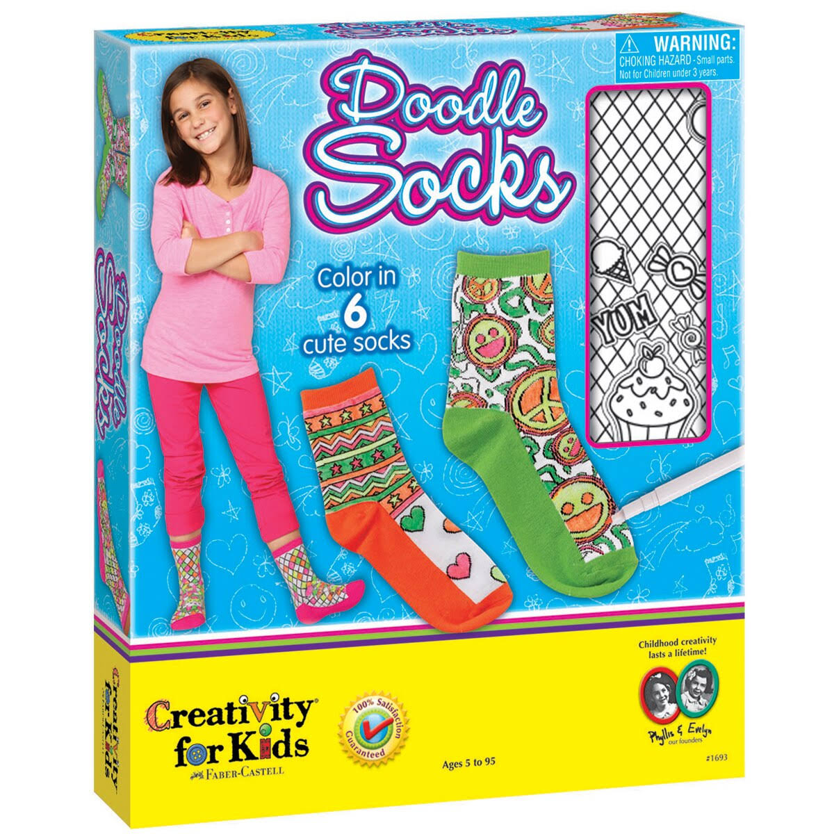 Faber-Castell Creativity for Kids Doodle Socks