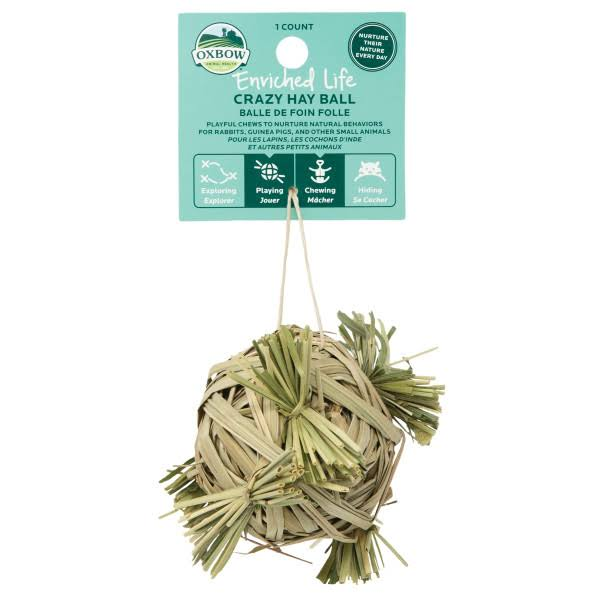 Oxbow 73296327 Small Animal Enriched Life Crazy Hay Ball