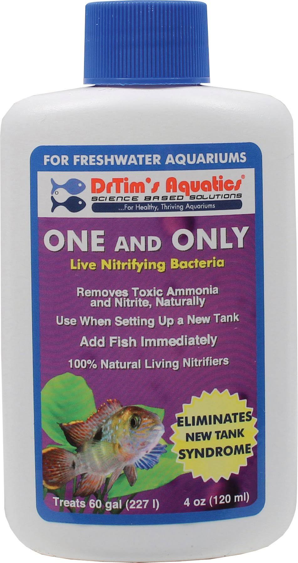 DrTim's Aquatics One and Only Live Nitrifying Bacteria for Cycling Aquaria - 4oz