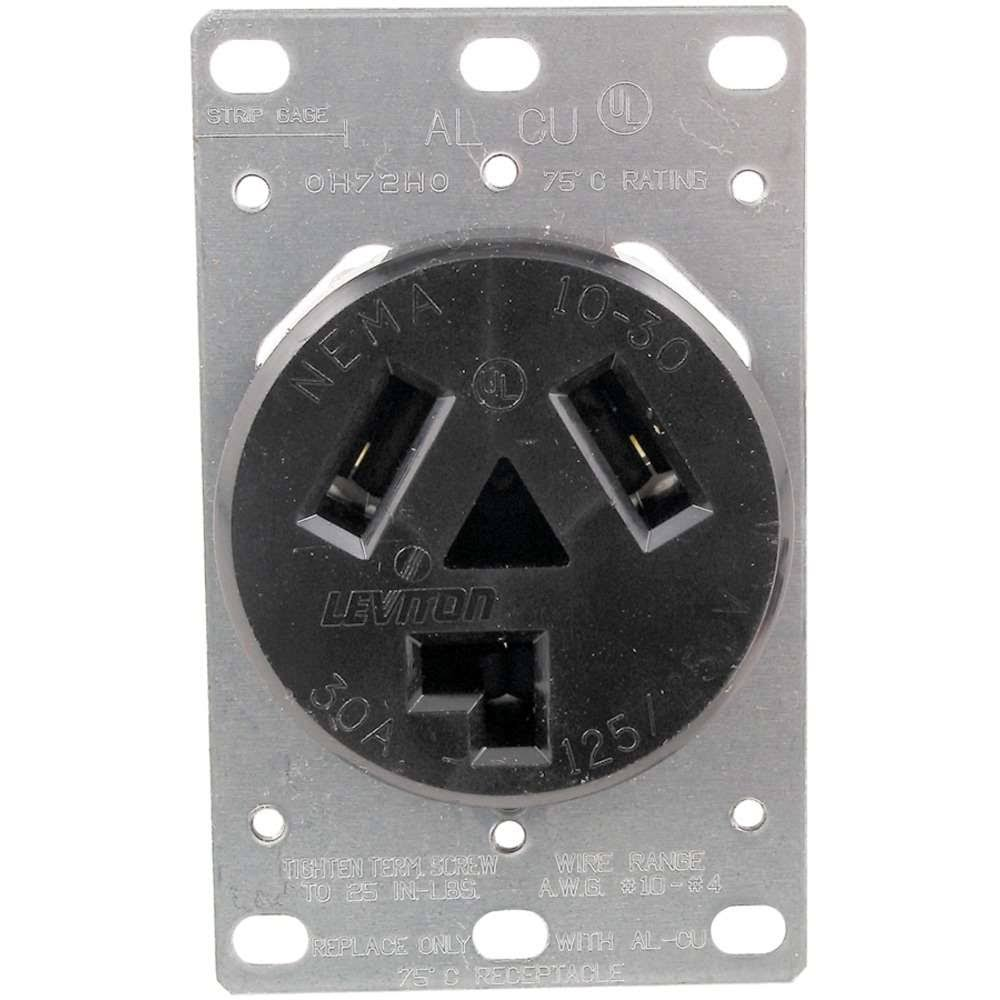 Leviton Flush Mount Receptacle - 125/250V