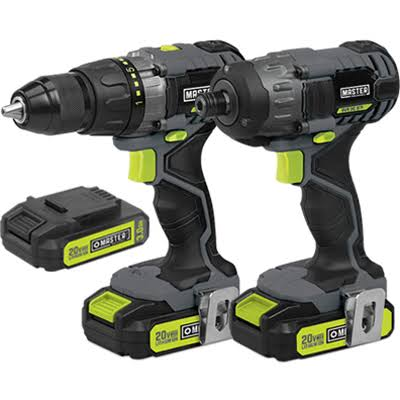 Ningbo Gemay Industry 211894 Drill Impact Combo Kit - 20V Lithium-ion, 1/2""