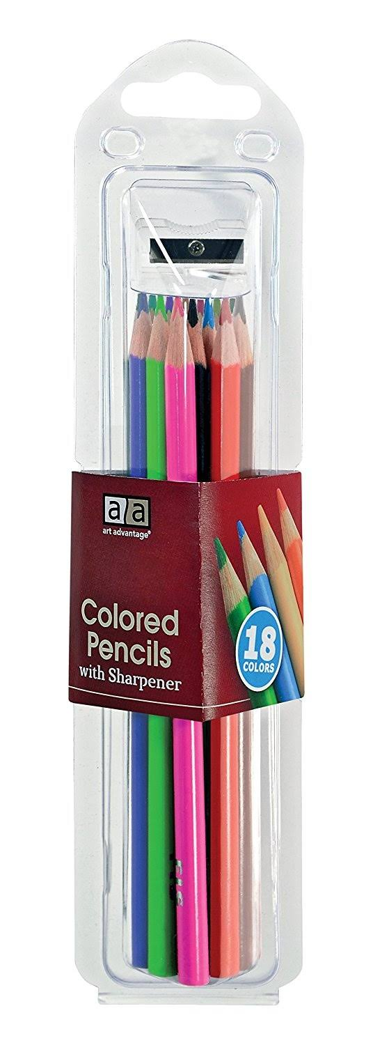 Art Advantage Color Pencil Set - 18pcs, with Sharpener