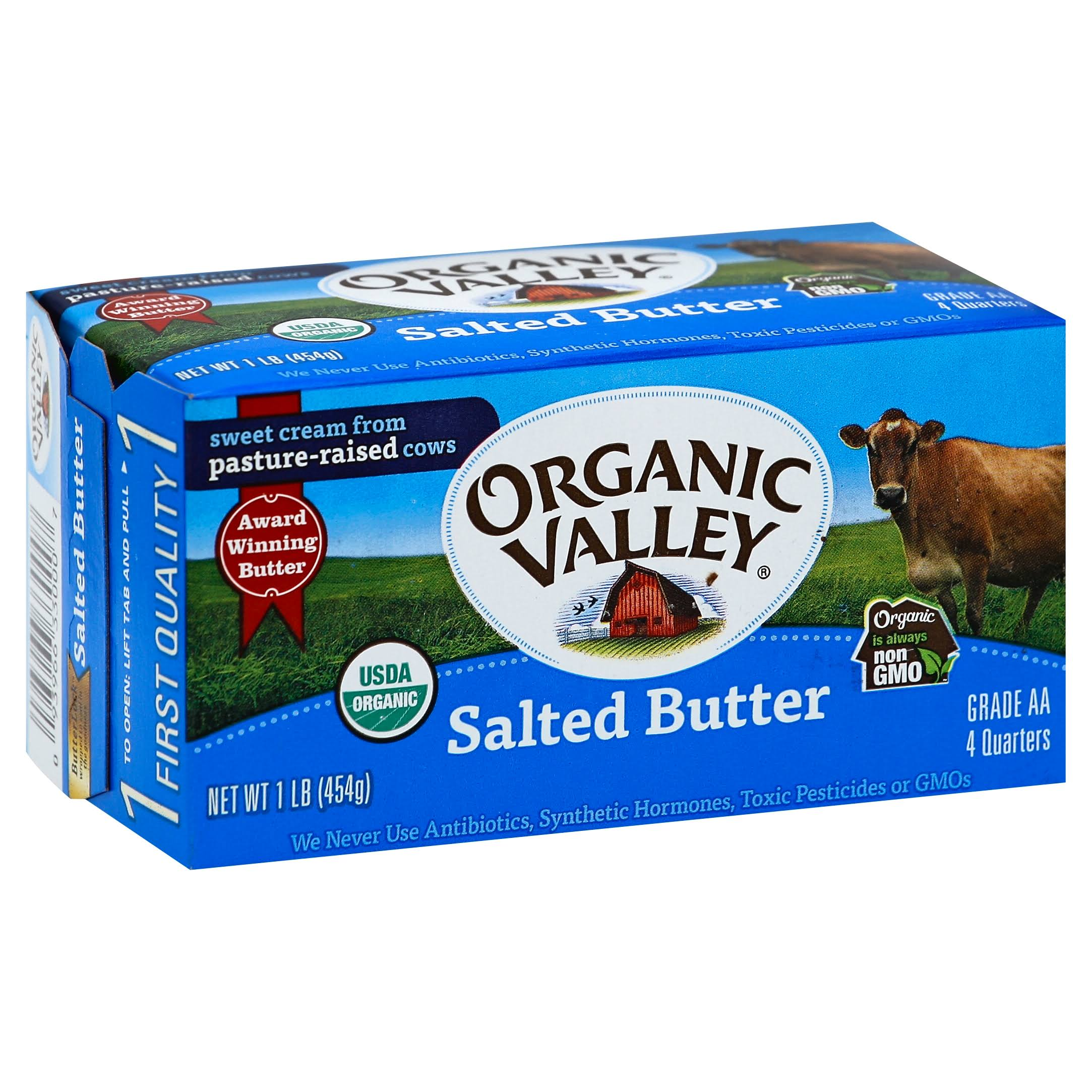 Organic Valley Salted Butter - 454g