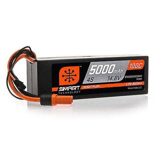 Spektrum Smart LiPo Battery - 5000mAh, 4S, 14.8V, 100C
