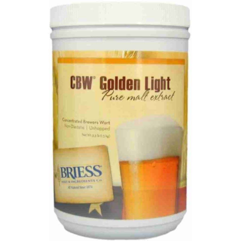 CBW Golden Light Liquid Malt Extract Syrup Home Brewing Kit - 3.3lbs