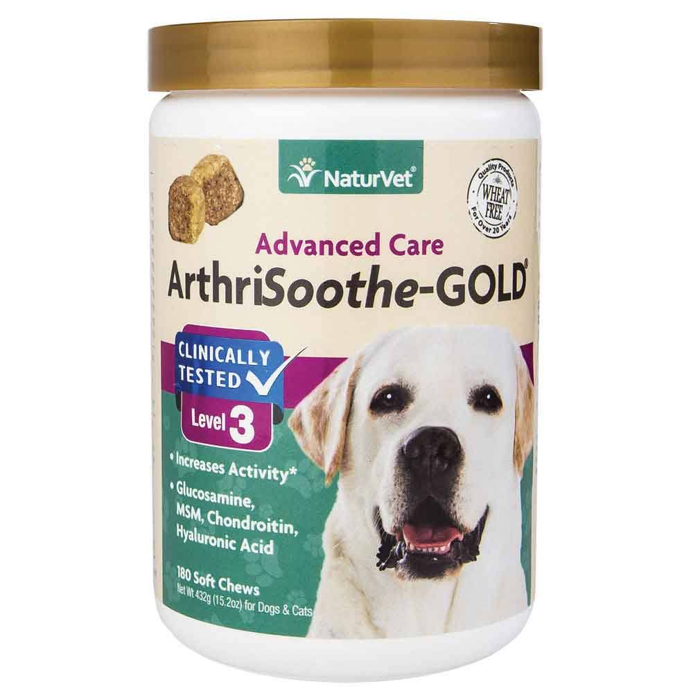 NaturVet ArthriSoothe Gold Soft Chew Hip and Joint Mobility Stage 3 Dog Supplement - 180ct