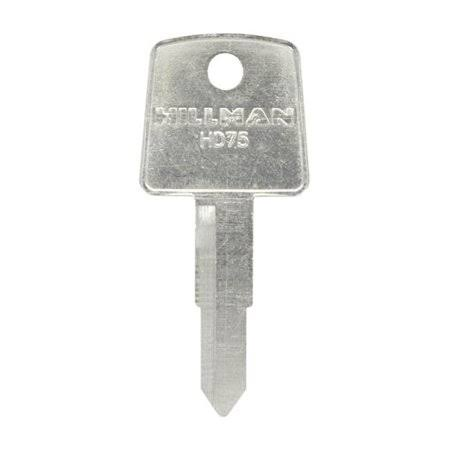 Hillman 5007132 Universal Key Blank with 2035 Double Sided Case - Pack of 4
