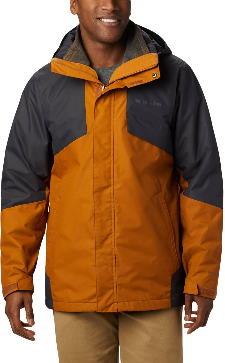 Columbia Men's Bugaboo II Fleece Interchange Jacket - Medium - Burnished Amber/Shark