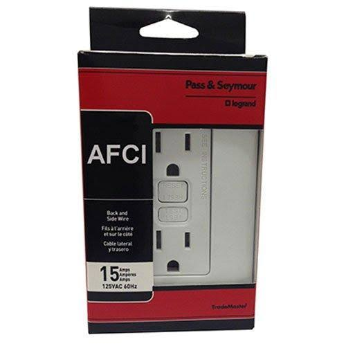 Pass & Seymour Afci Receptacle - 15A, 125V, White
