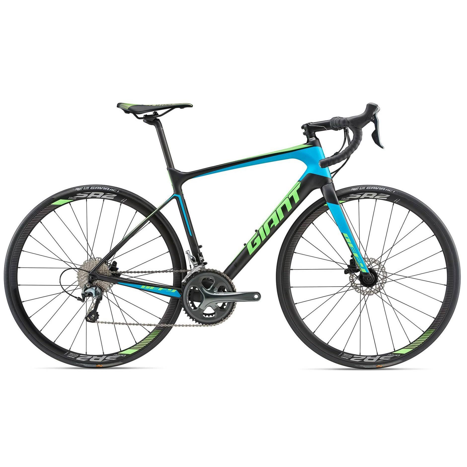 Giant 2018 Defy Advanced 3 Large Matte-carbon-smoke-blue