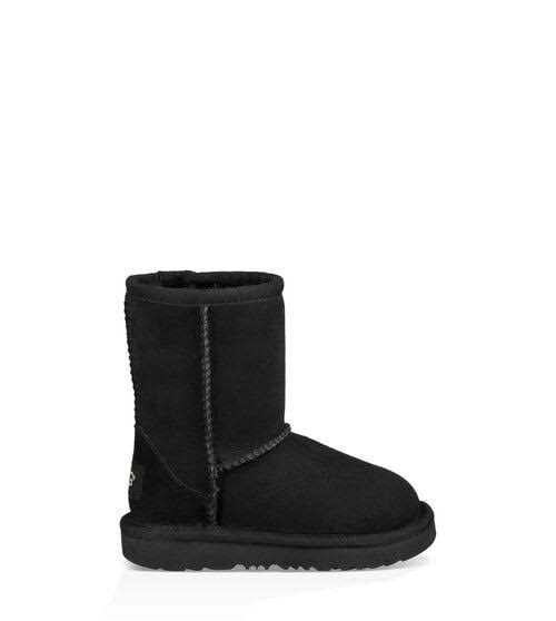Ugg Kids Classic II Water Resistant Winter Boots - Black, 11 US