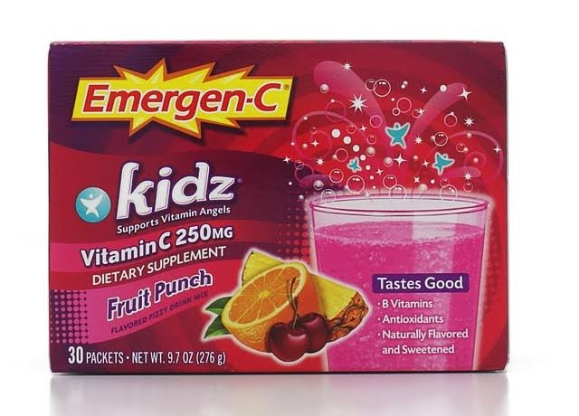 Emergen-C Kidz Vitamin C Fizzy Drink Mix - 30 Packets, Fruit Punch