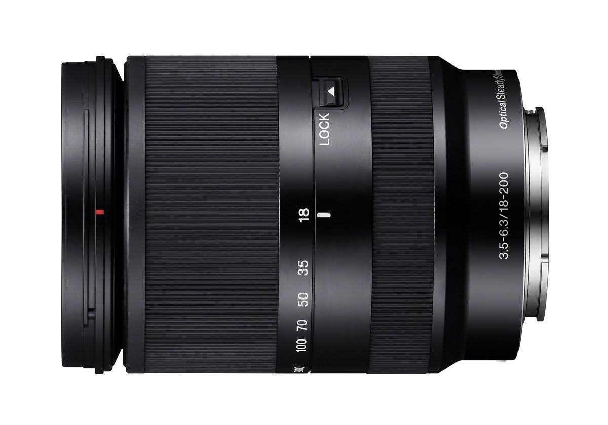 Sony E-Mount Lens - Black, 18-200mm, F3.5-6.3