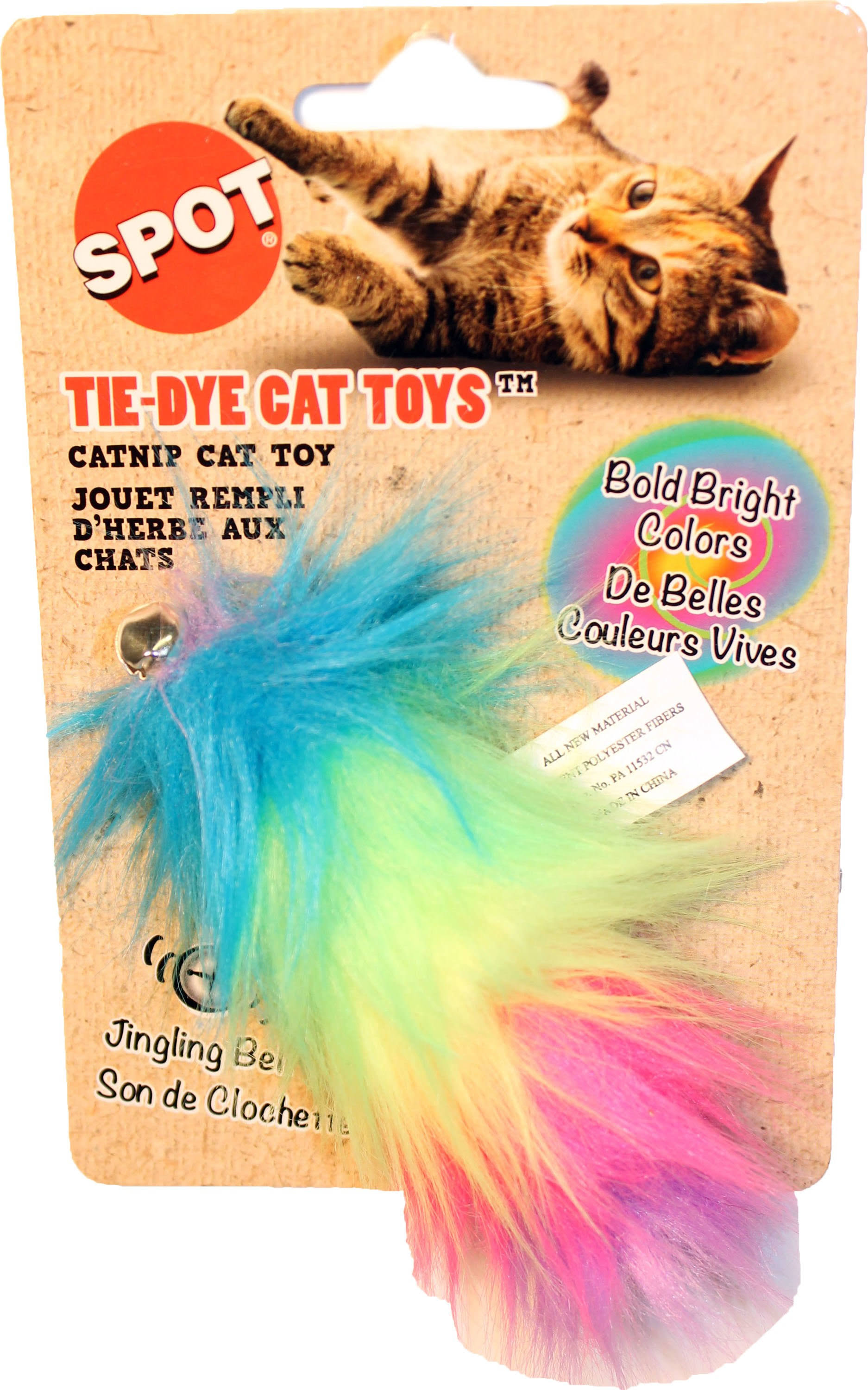 Spot Ethical Tie Dye Plush Cat Toy - 5""
