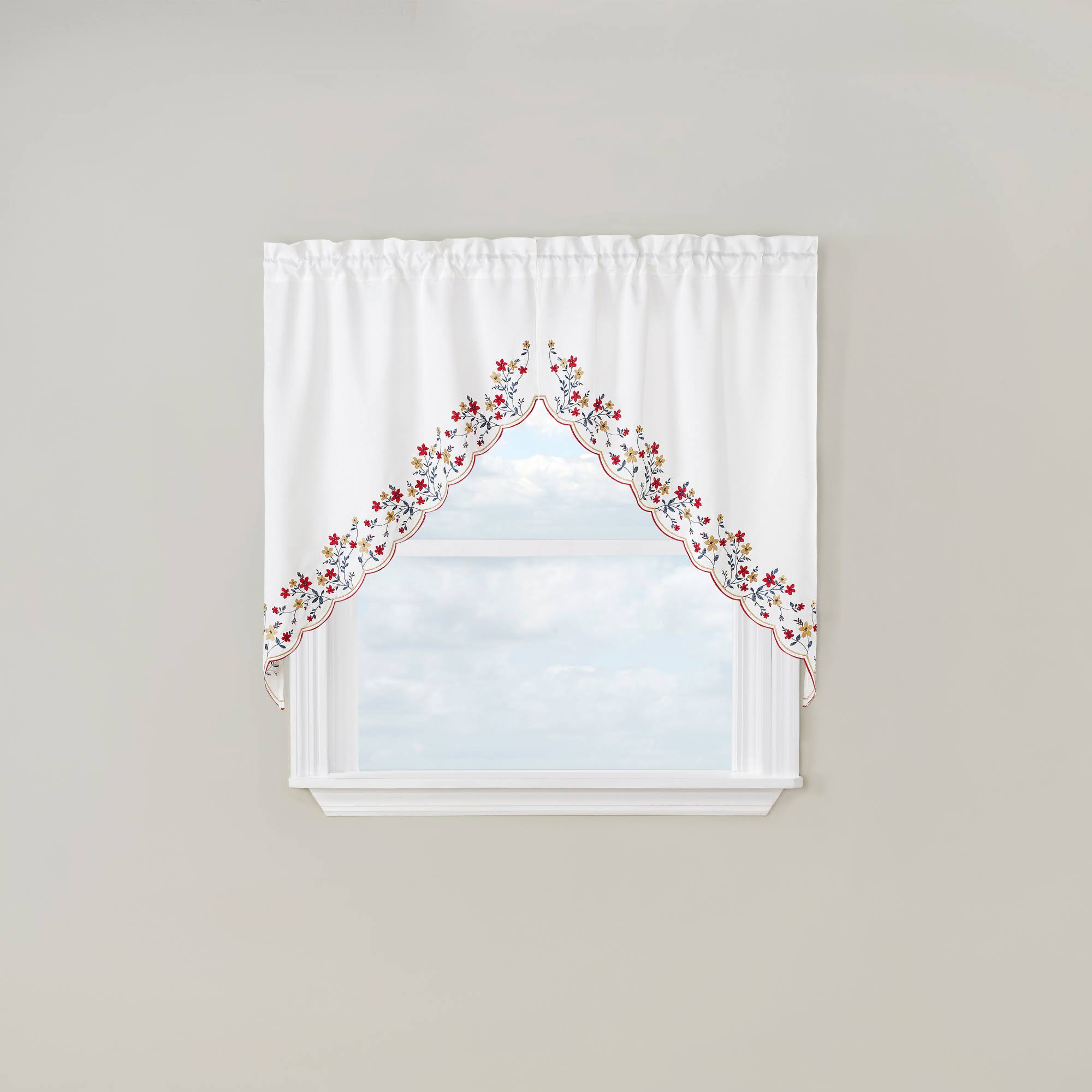 Bloom Embroidered Swag Curtain